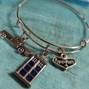 Police slide charm bracelet